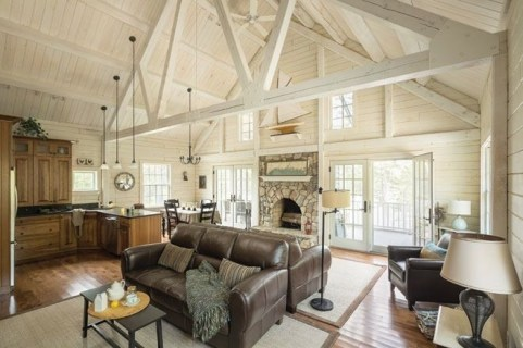 Wonderful Homes Plans Design Ideas With Log Cabin 35