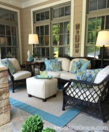 Adorable Green Porch Design Ideas For You 14