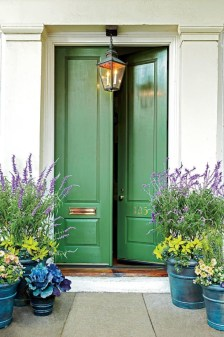 Adorable Green Porch Design Ideas For You 18