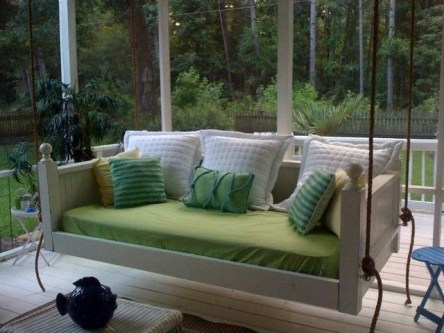 Adorable Green Porch Design Ideas For You 21