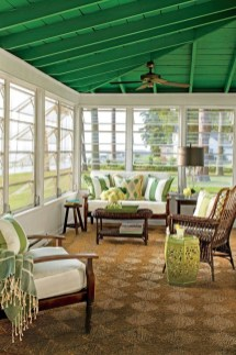 Adorable Green Porch Design Ideas For You 23