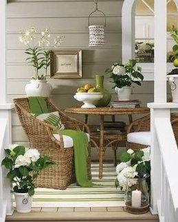 Adorable Green Porch Design Ideas For You 26