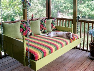 Adorable Green Porch Design Ideas For You 35