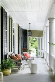 Adorable Green Porch Design Ideas For You 47