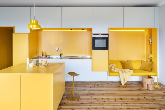 Best Yellow Accent Kitchens Ideas For You 26