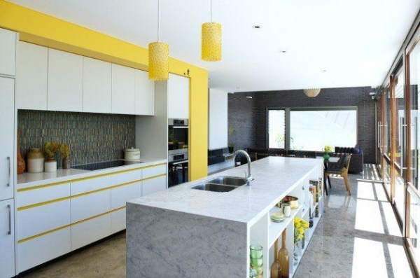 Best Yellow Accent Kitchens Ideas For You 32