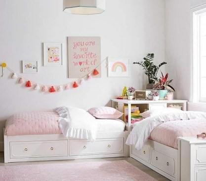 Creative Twin Beds Decoration Ideas For Your Twin Girls 35