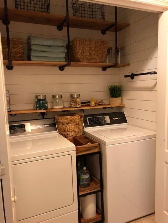 Trendy Small Laundry Room Design Ideas To Try Asap 40