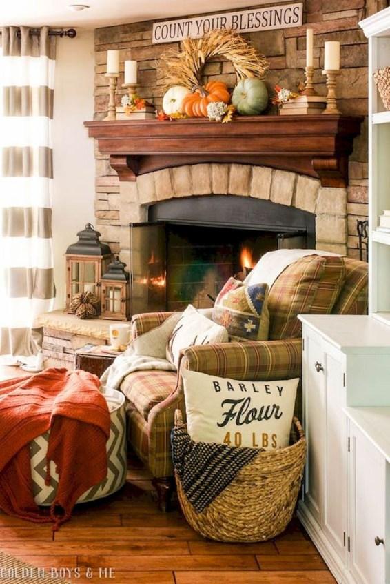 Admiring Living Room Design Ideas To Enjoy The Fall 40