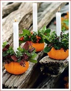 Admiring White And Orange Pumpkin Centerpieces Ideas For Halloween 15