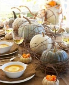 Admiring White And Orange Pumpkin Centerpieces Ideas For Halloween 26