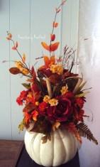 Admiring White And Orange Pumpkin Centerpieces Ideas For Halloween 39