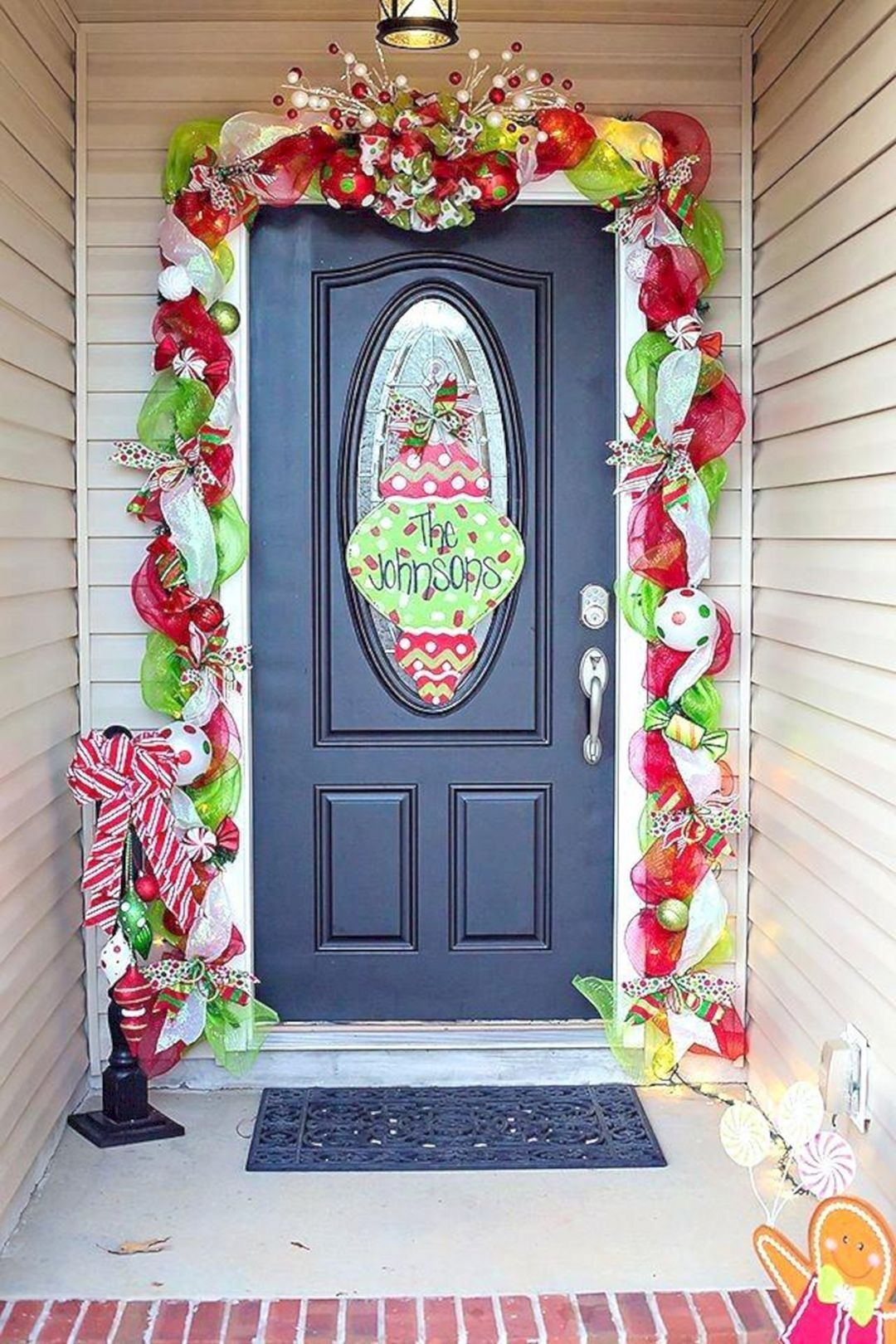 Captivating Diy Front Door Design Ideas For Special Christmas To Try 06