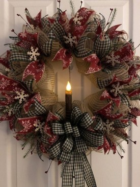 Captivating Diy Front Door Design Ideas For Special Christmas To Try 36