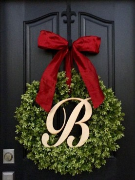 Captivating Diy Front Door Design Ideas For Special Christmas To Try 42