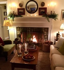 Delicate Living Room Design Ideas With Fireplace To Keep You Warm This Winter 07