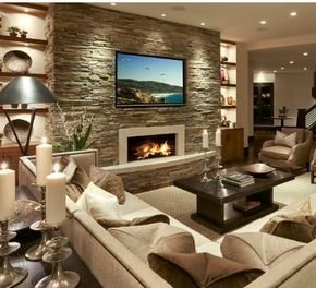 Delicate Living Room Design Ideas With Fireplace To Keep You Warm This Winter 09