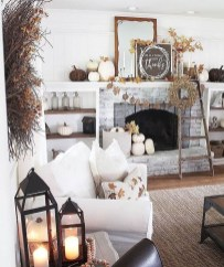 Delicate Living Room Design Ideas With Fireplace To Keep You Warm This Winter 20