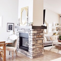 Delicate Living Room Design Ideas With Fireplace To Keep You Warm This Winter 24