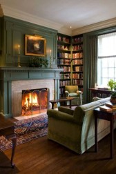 Delicate Living Room Design Ideas With Fireplace To Keep You Warm This Winter 29