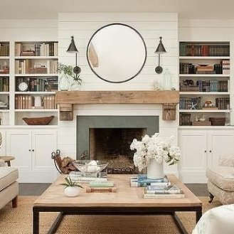 Delicate Living Room Design Ideas With Fireplace To Keep You Warm This Winter 35