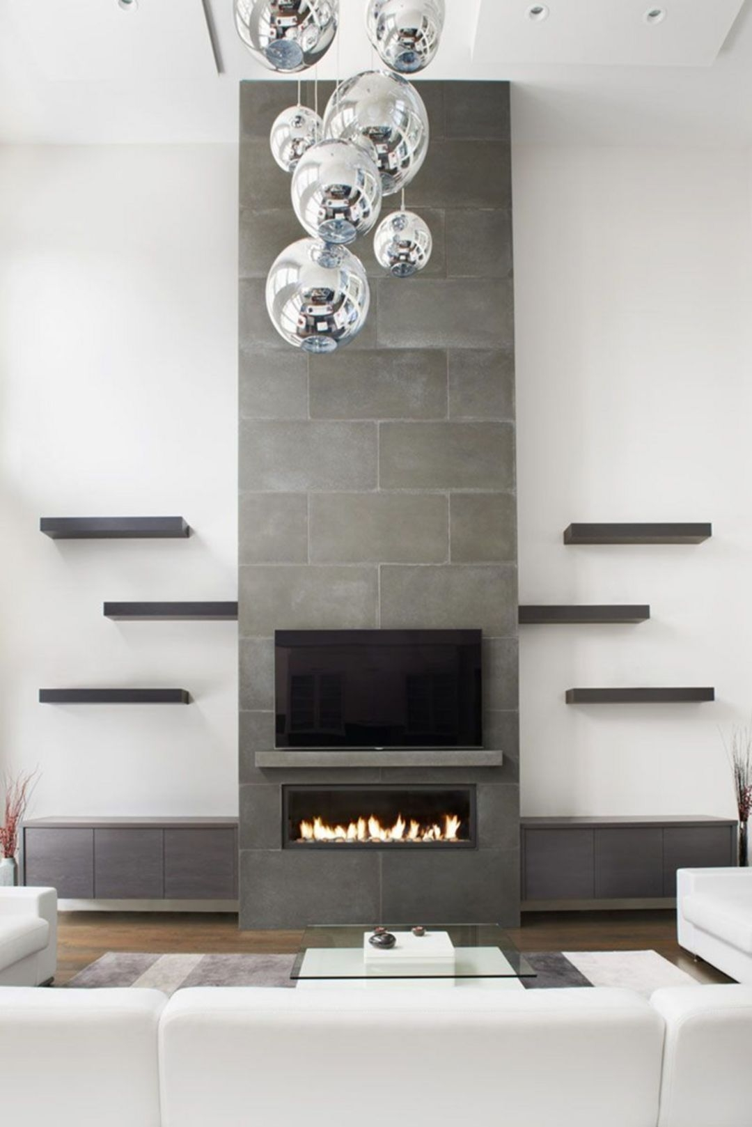 Delicate Living Room Design Ideas With Fireplace To Keep You Warm This Winter 40