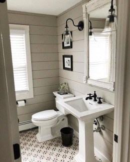 Unusual Remodel Design Ideas To Be Modern Farmhouse Bathroom 21