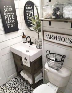Unusual Remodel Design Ideas To Be Modern Farmhouse Bathroom 30