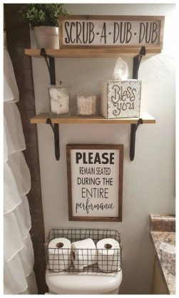 Unusual Remodel Design Ideas To Be Modern Farmhouse Bathroom 35