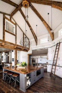 Crative Farmhouse Kitchen Design Ideas For Fun Cooking To Try 50