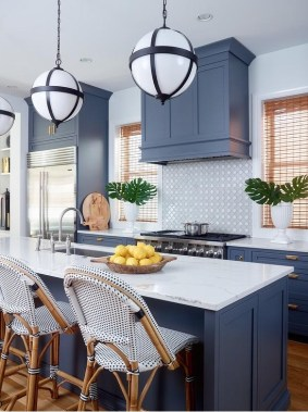 Classy Blue Kitchen Cabinets Design Ideas For Kitchen Looks More Incredible 06