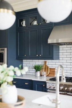 Classy Blue Kitchen Cabinets Design Ideas For Kitchen Looks More Incredible 08