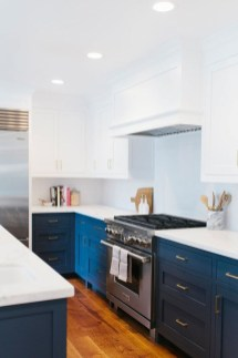 Classy Blue Kitchen Cabinets Design Ideas For Kitchen Looks More Incredible 13