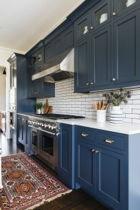 Classy Blue Kitchen Cabinets Design Ideas For Kitchen Looks More Incredible 19