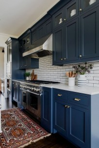 Classy Blue Kitchen Cabinets Design Ideas For Kitchen Looks More Incredible 23