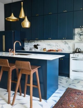 Classy Blue Kitchen Cabinets Design Ideas For Kitchen Looks More Incredible 24