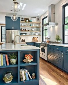 Classy Blue Kitchen Cabinets Design Ideas For Kitchen Looks More Incredible 28