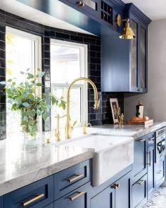 Classy Blue Kitchen Cabinets Design Ideas For Kitchen Looks More Incredible 29
