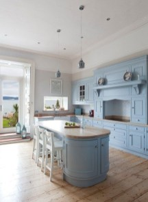 Classy Blue Kitchen Cabinets Design Ideas For Kitchen Looks More Incredible 32