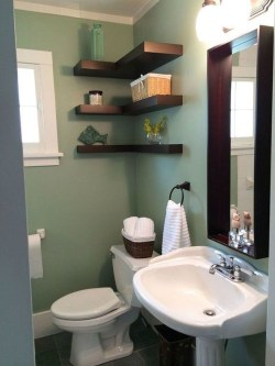 Comfy Corner Floating Shelves Design Ideas To Beautify Your Room Corner 01