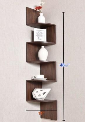 Comfy Corner Floating Shelves Design Ideas To Beautify Your Room Corner 06