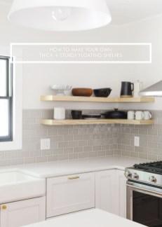 Comfy Corner Floating Shelves Design Ideas To Beautify Your Room Corner 19