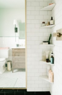 Comfy Corner Floating Shelves Design Ideas To Beautify Your Room Corner 31