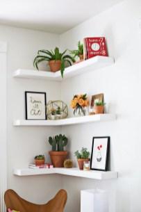 Comfy Corner Floating Shelves Design Ideas To Beautify Your Room Corner 32
