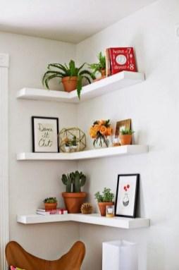 Comfy Corner Floating Shelves Design Ideas To Beautify Your Room Corner 36