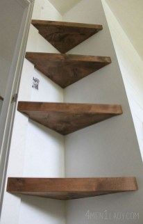 Comfy Corner Floating Shelves Design Ideas To Beautify Your Room Corner 37