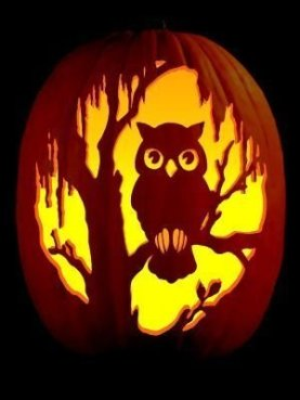 Cozy Pumpkin Carving Design Ideas You Can Do Yourself 45