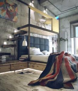 Creative Industrial Bedroom Design Ideas For Unique Bedroom 11