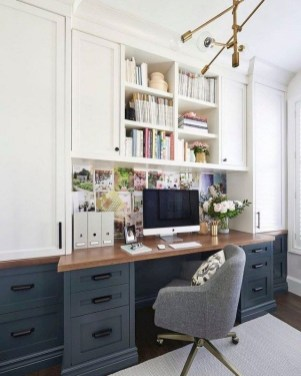Gorgeous Traditional Small Home Office Design Ideas For You To Have 35