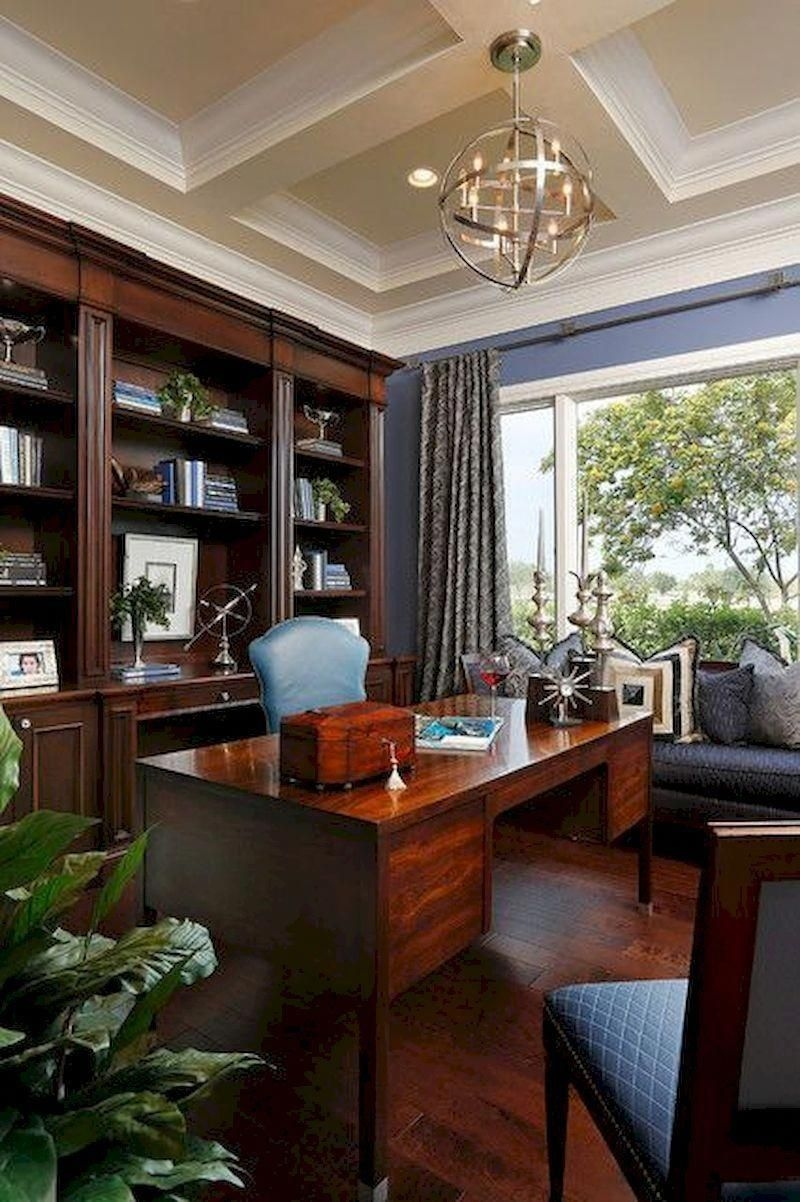 Gorgeous Traditional Small Home Office Design Ideas For You To Have 40